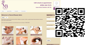 Julies Natural Beauty with QR Code