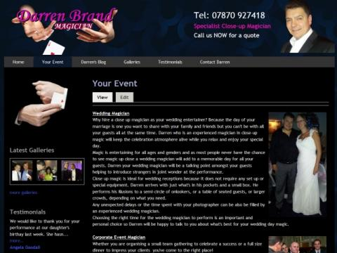 Darren Brand Magician Lancashire