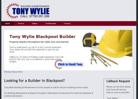 Tony Wylie Blackpool Based Builder